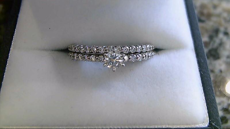 Lady's Diamond Wedding Set 36 Diamonds .51 Carat T.W. 14K White Gold 4.1g