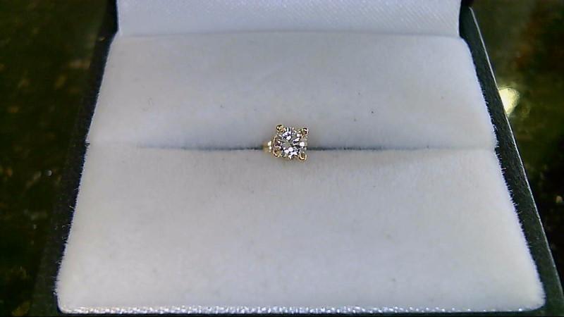 Gold-Diamond Earrings .15 CT. 14K Yellow Gold 0.03g