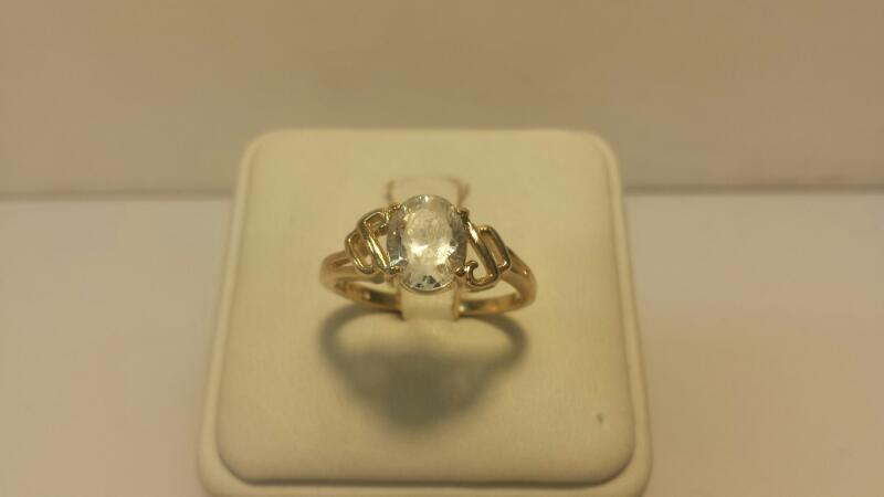 14k Yellow Gold Ring with 1 Gemstone - 2.9ctw - Size 8.5