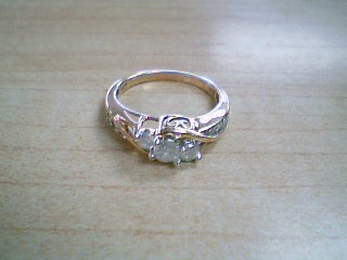 Lady's Diamond Engagement Ring 9 Diamonds .63 Carat T.W. 10K Yellow Gold 2.7g