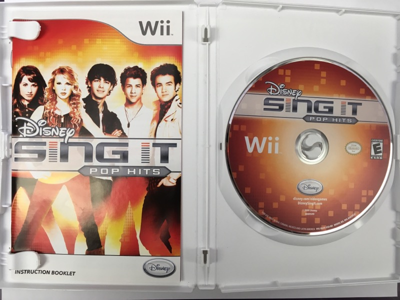Disney Sing it: Pop Hits - (Nintendo Wii, 2009)