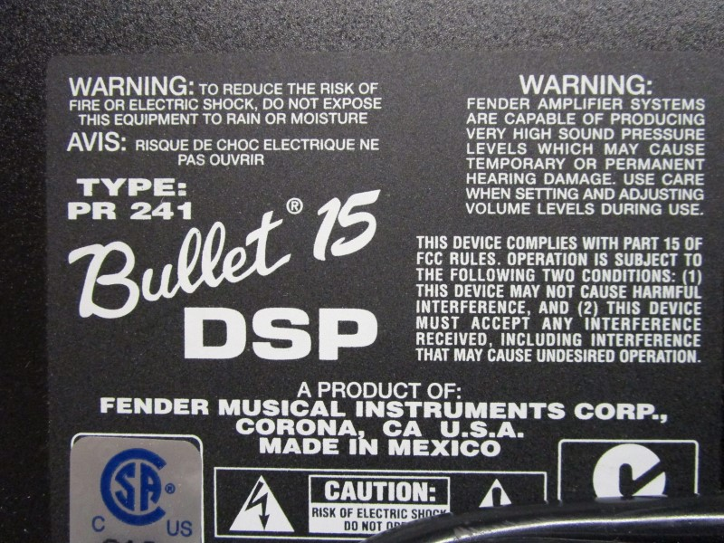 FENDER BULLET 15 DSP GUITAR AMP, TYPE 241