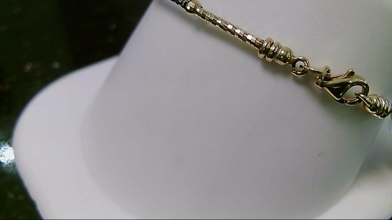 "6"" 14K Two Tone Gold Omega Bracelet 4.6G"