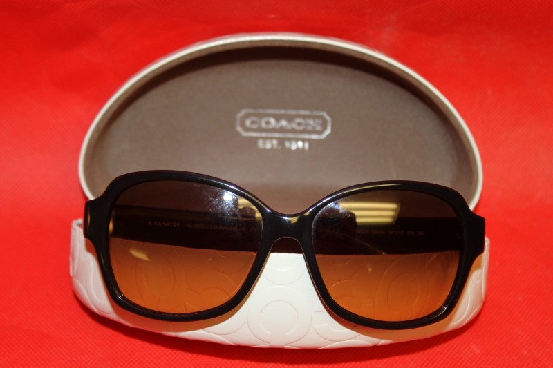 Coach Barbara Dark Tortoise Sunglasses **See Pictures**