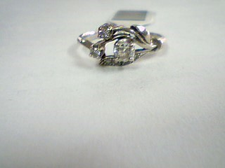 Lady's Diamond Wedding Band 7 Diamonds .30 Carat T.W. 14K White Gold 2.03g