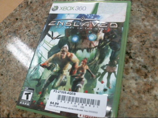 MICROSOFT Microsoft XBOX 360 Game ENSLAVED ODYSSEY TO THE WEST