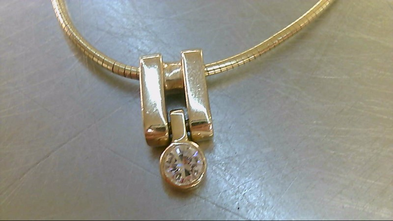 Diamond Necklace .40 CT. 14K Yellow Gold 14.54g