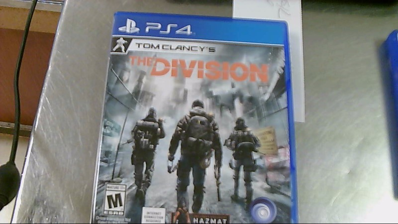 SONY PS4 GAME TOM CLANCYS THE DIVISION