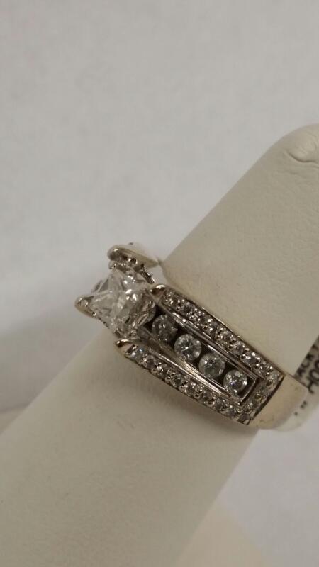 Lady's Diamond Fashion Ring 50 Diamonds .77 Carat T.W. 14K White Gold 6.8g