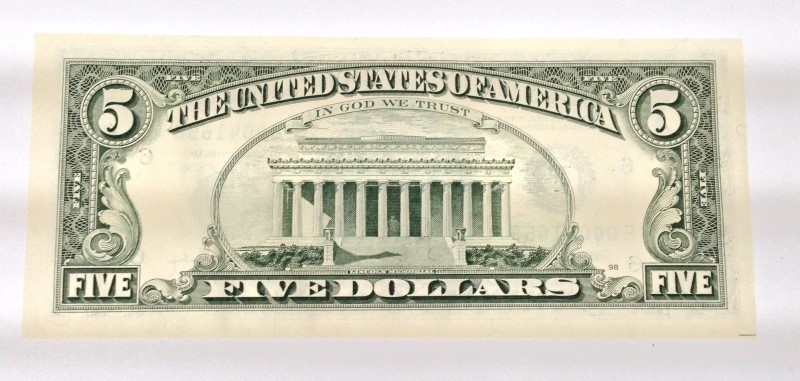 UNITED STATES Paper Money - World 5.00 SERIES 1995 STAR NOTE