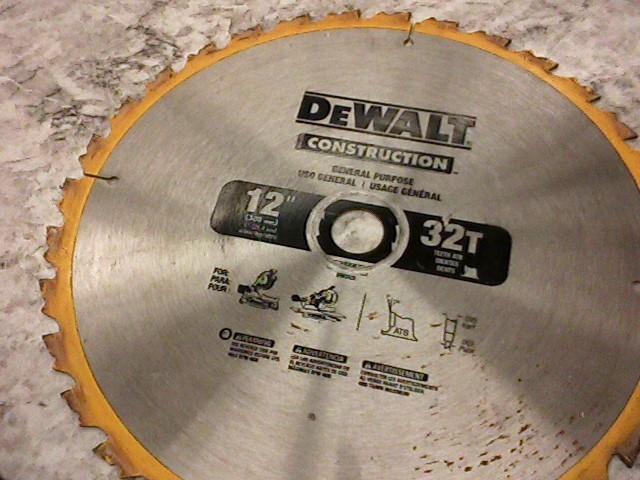 """DEWALT 12"""" SAW BLADE"""