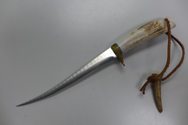 HAND MADE STAG HANDLE FISH FILET KNIFE