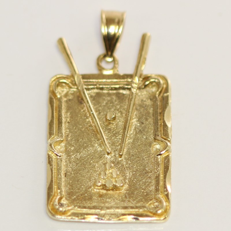 POOL TABLE PENDANT 14KYG 5.0G