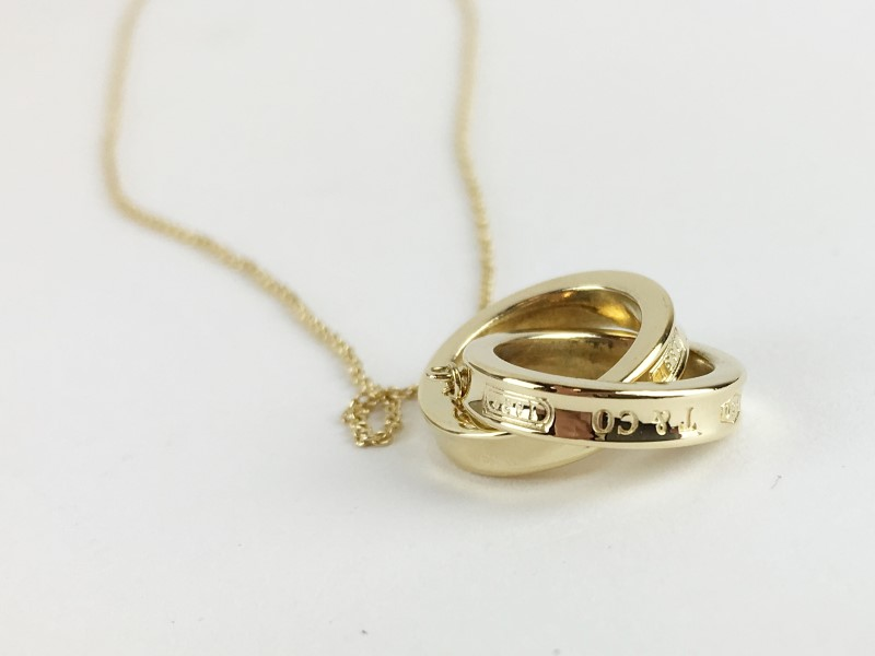 Tiffany & Co. 18K Interlocking Yellow Gold 7.5g