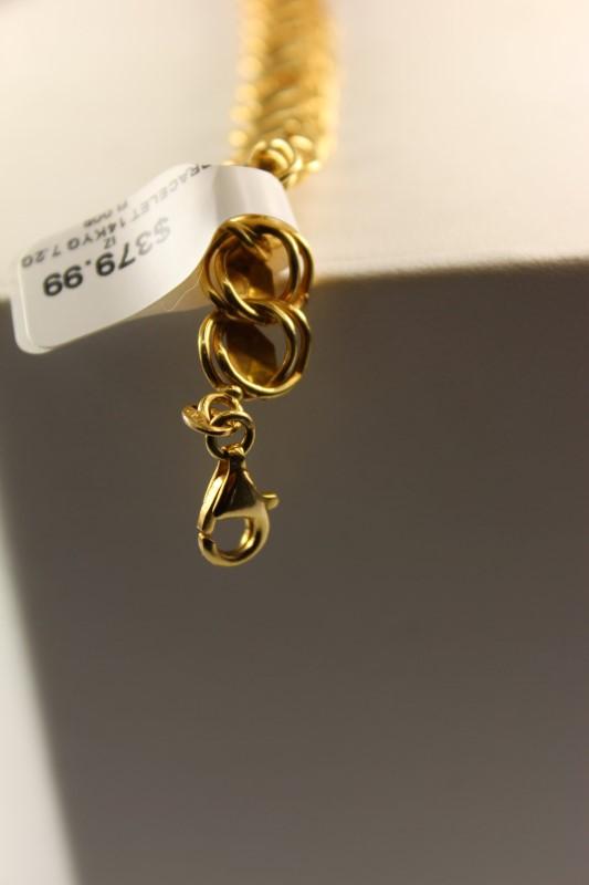 GOLD BRACELET 14KYG 7.2G