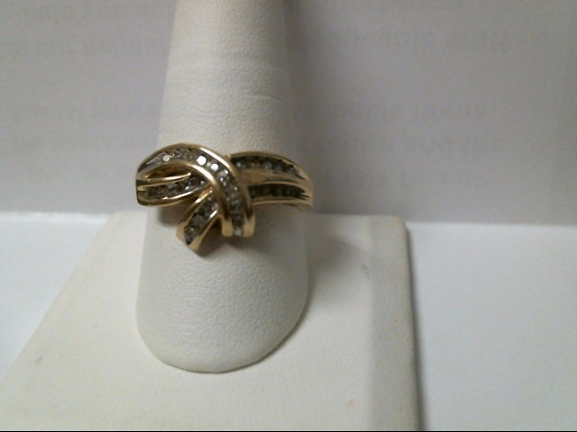 Lady's Diamond Fashion Ring 25 Diamonds .25 Carat T.W. 10K Yellow Gold 4.1g