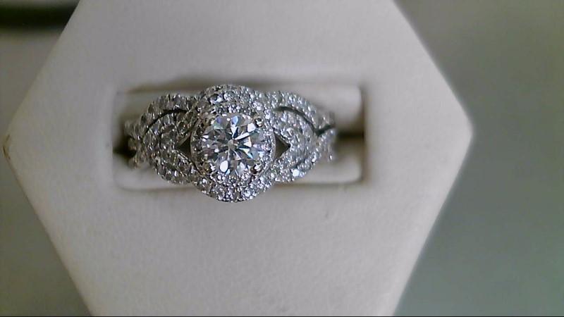 Lady's Diamond Wedding Set 97 Diamonds 1.45 Carat T.W. 14K White Gold 6.8g