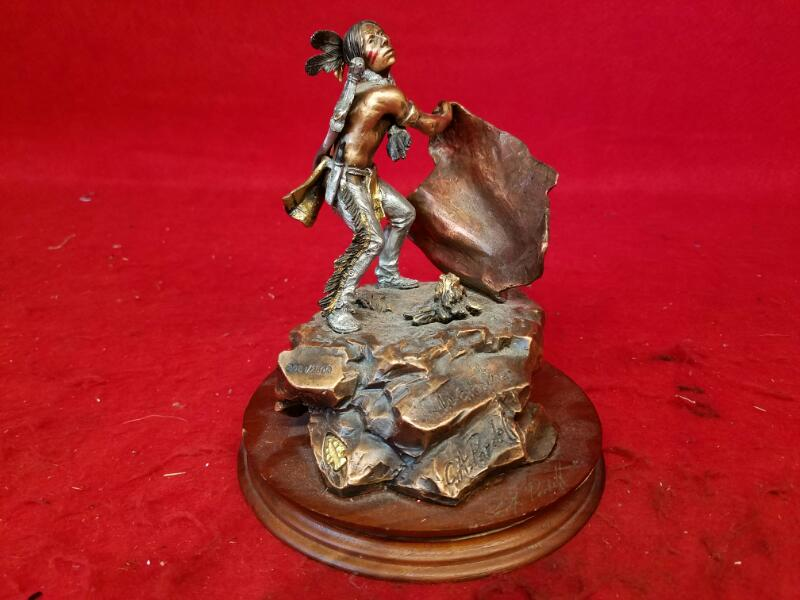"C.A. Pardell "" Warning"" Bronze Scuplture Legends Ltd. Edition"