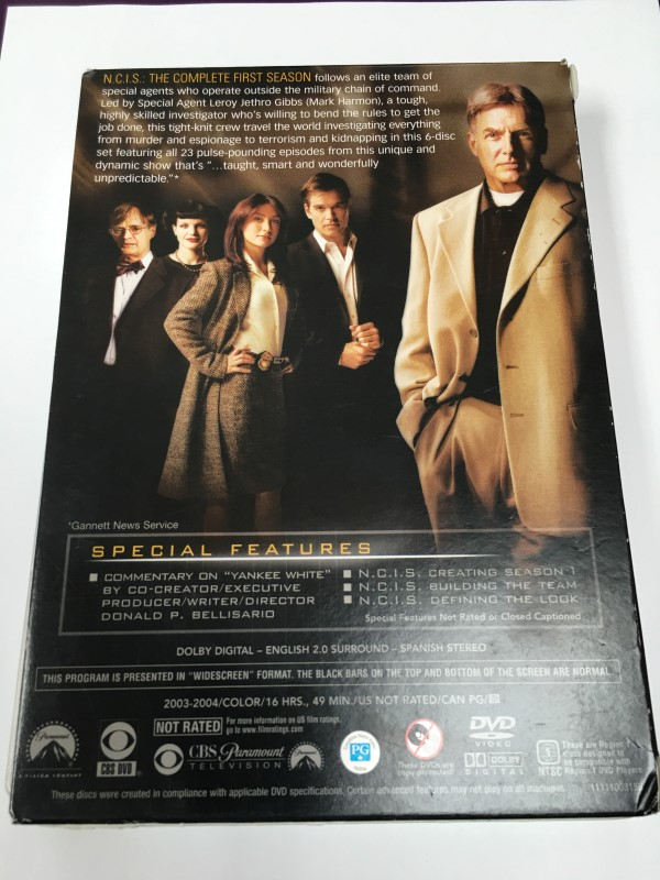 NCIS-THE COMPLETE FIRST SEASON DVDS, 2003-2004