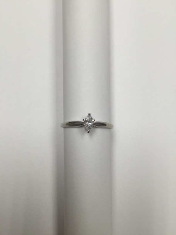 Lady's Diamond Solitaire Ring .24 CT. 10K White Gold 1.1dwt Size:6