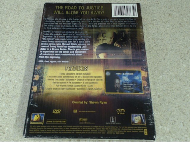THE SHIELD-COMPLETE FIRST SEASON 4 DISC DVD SET