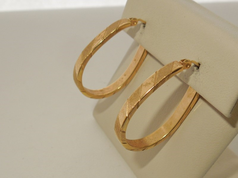 Gold Earrings 14K Yellow Gold 2.4g