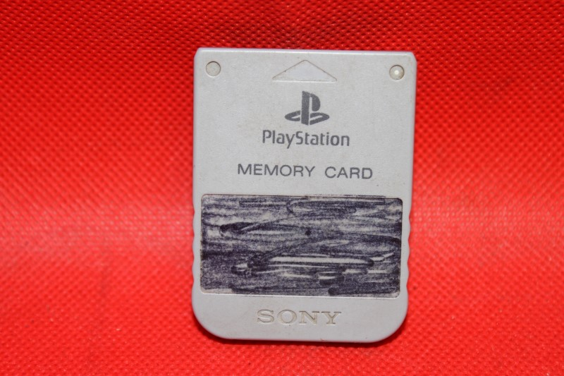 Gray SONY PLAYSTATION PS1 Memory Card - Genuine Official Original Brand *Works*