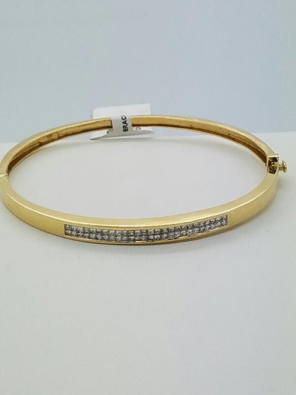 Gold-Diamond Bracelet 52 Diamonds 1.56 Carat T.W. 14K Yellow Gold 7.3dwt