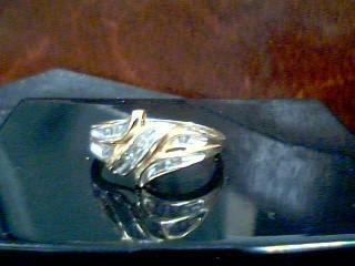 Lady's Diamond Fashion Ring 8 Diamonds .08 Carat T.W. 10K Yellow Gold 1.8g