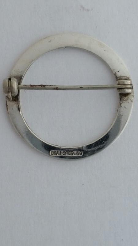Silver Brooch 925 Silver 2.5g