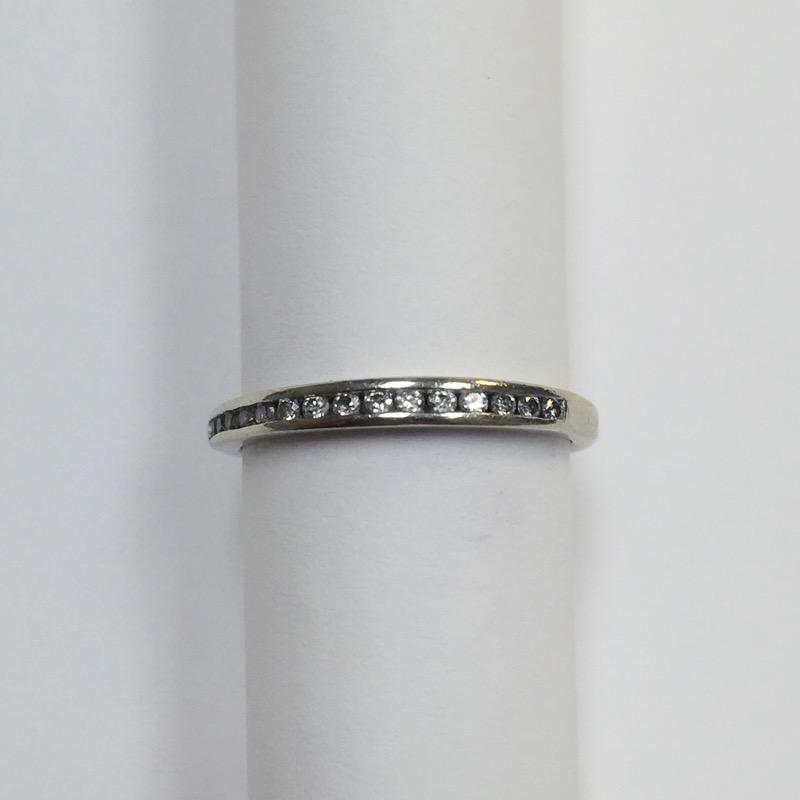 Lady's Diamond Wedding Band 15 Diamonds .15 Carat T.W. 10K White Gold 1dwt
