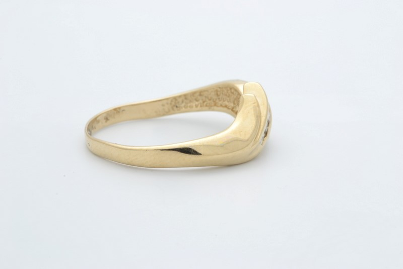 ESTATE DIAMOND RING BAND SOLID 14K YELLOW GOLD FINE WRAP  SIZE 8