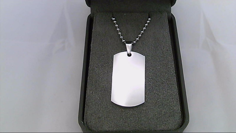 STAINLESS DOG TAG NECKLACE