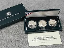 UNITED STATES Silver Coin US VETERANS COMMEMORATIVE SILVER DOLLARS