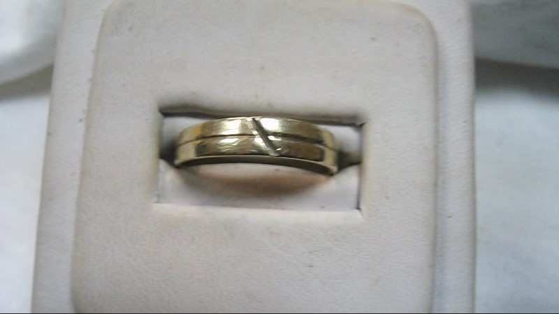 Unisex Gold Band 10K Yellow Gold 2g Size:9