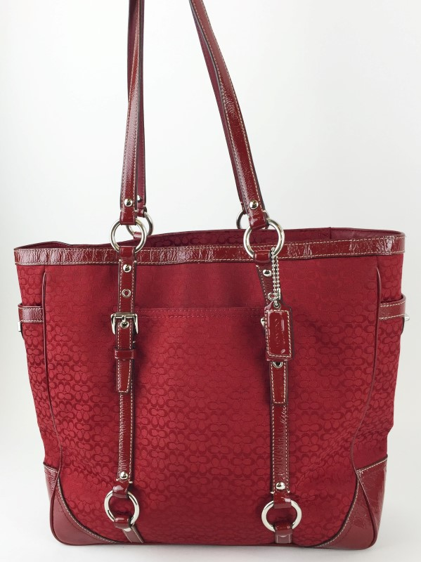 COACH F12345 SIGNATURE C JACQUARD BOOK TOTE SHOULDER BAG