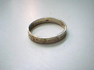 Lady's Gold Wedding Band 10K Yellow Gold 2.3g Size:9.5
