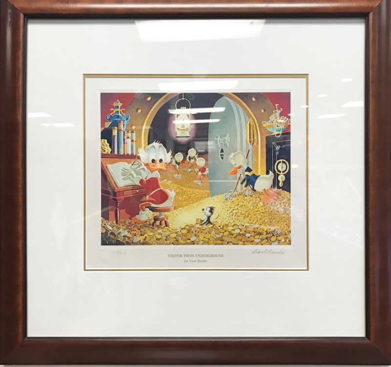 CARL BARKS VISITOR FROM UNDERGROUND PRINT W/COA #163/595