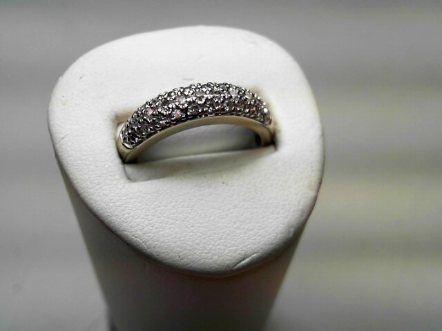 Lady's Diamond Cluster Ring 31 Diamonds .31 Carat T.W. 14K White Gold 3.2g