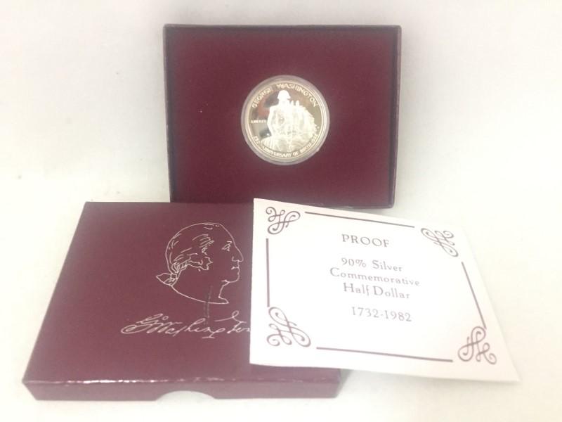UNITED STATES Coin 1982 GEORGE WASHINGTON 250TH ANNI OF BIRTH 1/2 DOL