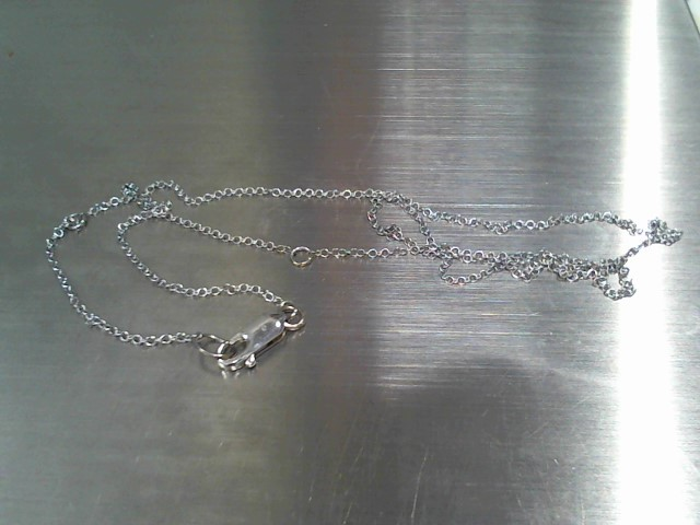 "20"" Gold Chain 14K White Gold 2.3g"
