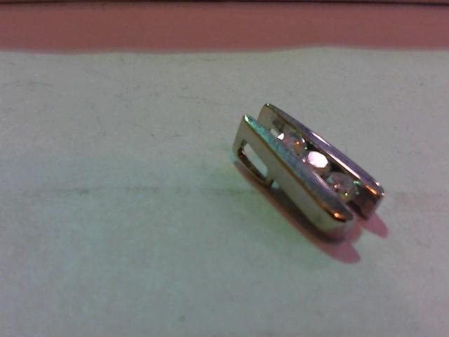 Gold-Multi-Diamond Pendant 3 Diamonds .46 Carat T.W. 14K White Gold 2.5g