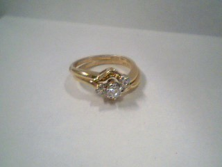 Lady's Diamond Wedding Set 7 Diamonds .19 Carat T.W. 14K Yellow Gold 4.4g