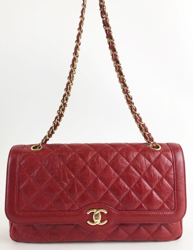 CHANEL VINTAGE QUILETD LAMBSKIN REMAKE SHOULDER BAG