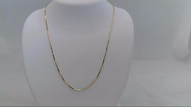 Gold Box Chain 14K Yellow Gold 1.4g