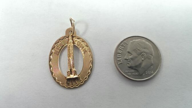 NEW YORK CITY CHARM 14K, DEPICTING THE EMPIRE STATE BUILDING! 1.2 GRAMS