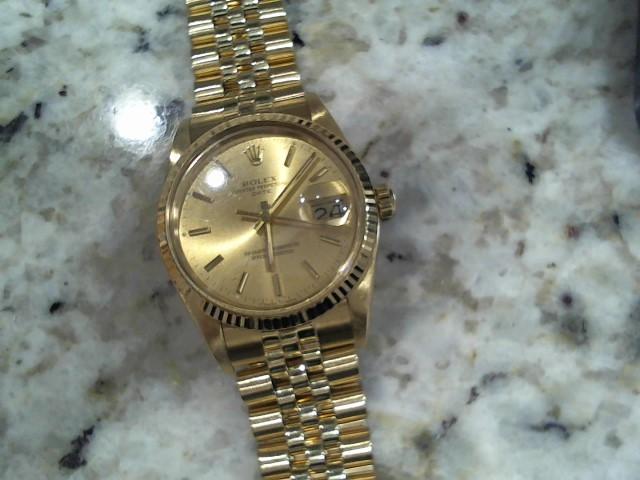 ROLEX Gent's Wristwatch 15037 14K OYSTER PERPETUAL DATE