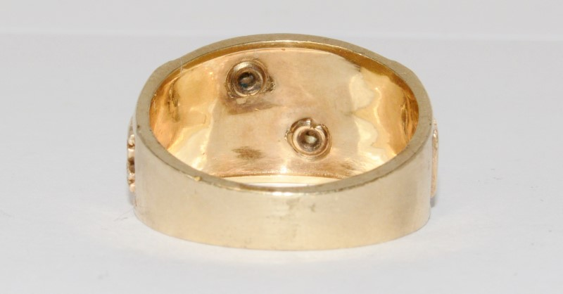 14K Yellow Gold Shriner's Emblem Ring Size 10