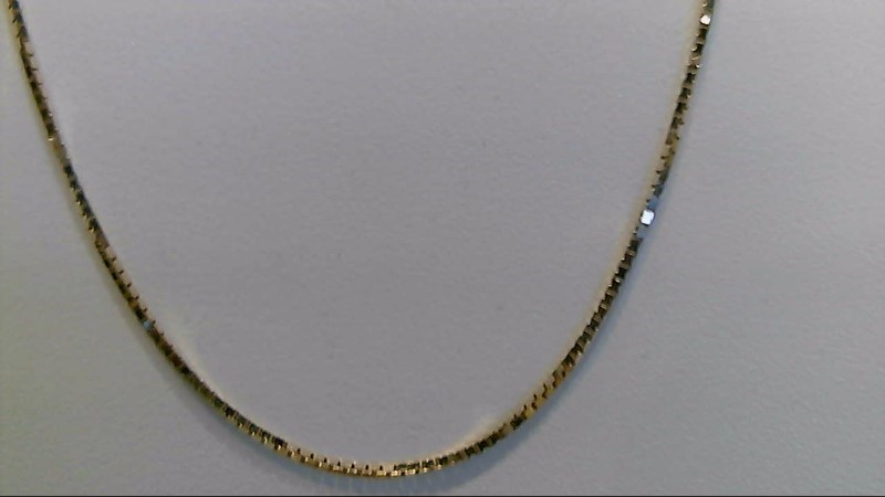 14k yellow gold 18 inch box chain