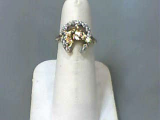 Lady's Diamond Fashion Ring 13 Diamonds .065 Carat T.W. 10K Yellow Gold 1.6dwt